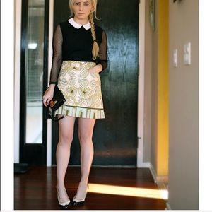 J. Crew Pasley Print 100 % Cotton Skirt Size 6